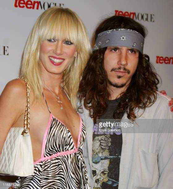 Kimberly Stewart and Cisco Adler during Teen Vogue 'Young Hollywood' Party at Chateau Marmont in West Hollywood California United States