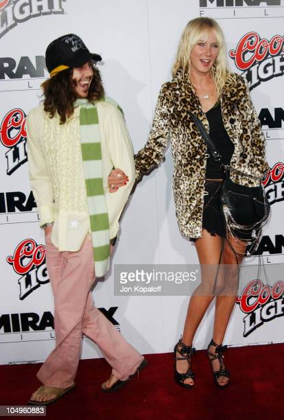 Kimberly Stewart and guest during Kill Bill Vol1 Hollywood Premiere at Grauman's Chinese Theater in Hollywood California United States