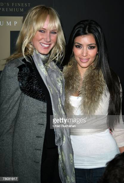 Kimberly Stewart and Kim Kardashian attend Trump Vodka launch party at Les Deux on January 17, 2007 in Los Angeles, California.