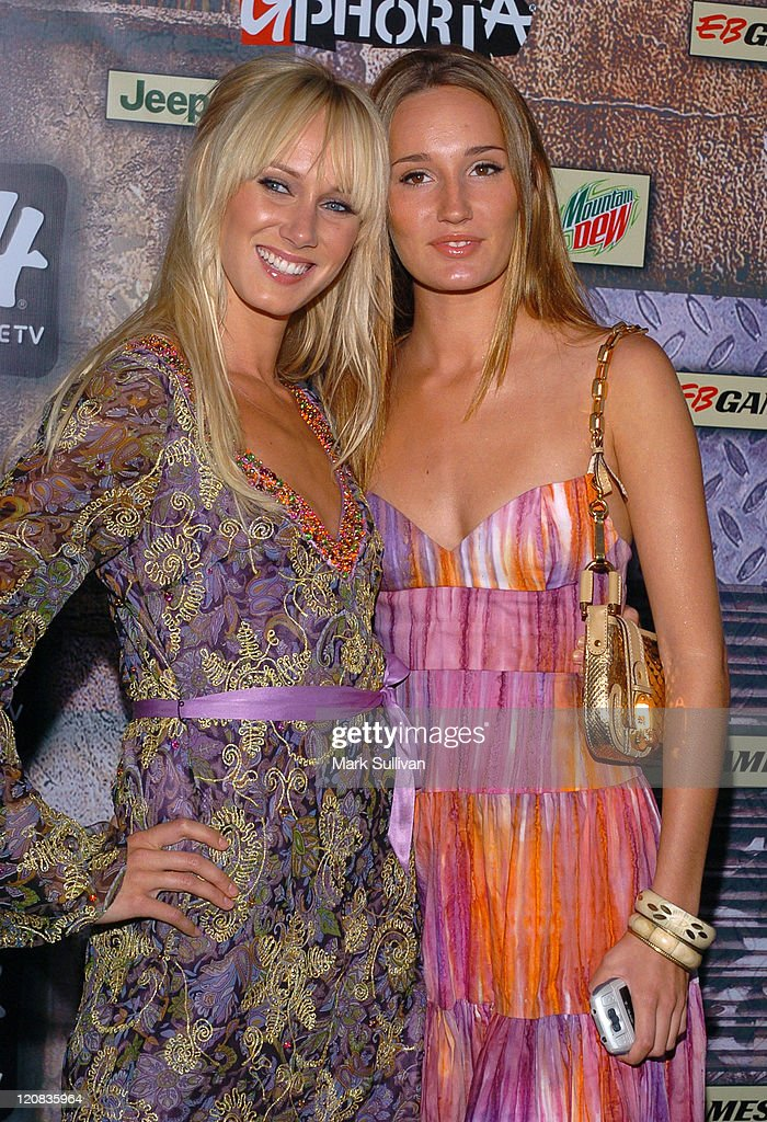 Kimberly Stewart and Ruby Stewart during 2005 G-Phoria Videogame Awards - Arrivals at Los Angeles Center Studios in Los Angeles, California, United States.