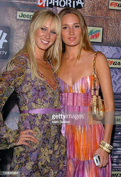 Kimberly Stewart and Ruby Stewart during 2005 G-Phoria Videogame Awards - Arrivals at Los Angeles Center Studios in Los Angeles, California, United...
