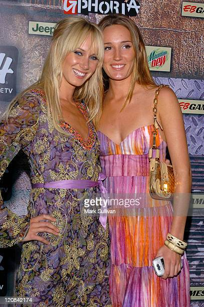 Kimberly Stewart and Ruby Stewart during 2005 GPhoria Videogame Awards Arrivals at Los Angeles Center Studios in Los Angeles California United States