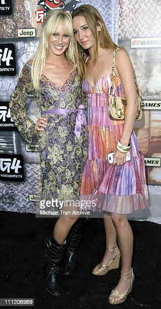 Kimberly Stewart and Ruby Stewart during GPhoria 2005 The Mother of All Videogame Award Shows Arrivals at Los Angeles Center Studios in Los Angeles...