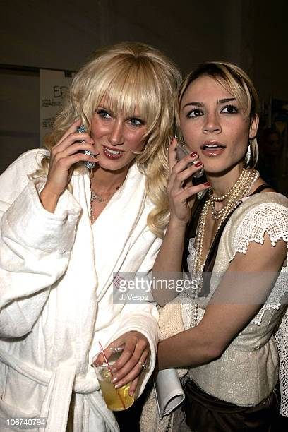 Kimberly Stewart and Samaire Armstrong during MercedesBenz Spring 2005 Fashion Week at Smashbox Studios Ashley Paige Front Row and Backstage at...