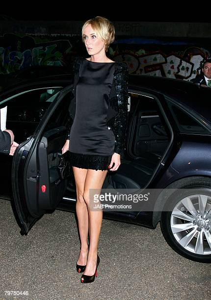 Kimberly Stewart arrives at the Elle Style Awards 2008 Audi Arrivals at The Westway on February 12 2008 in London England