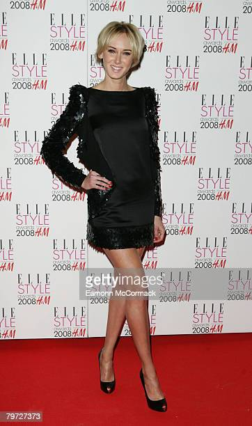 Kimberly Stewart attends the ELLE Style Awards 2008 at the Westway on February 12 2008 in London England