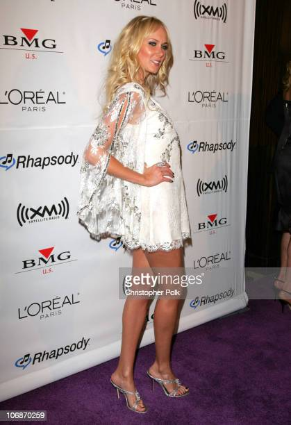 Kimberly Stewart during 2006 Clive Davis PreGRAMMY Awards Party Arrivals at Beverly Hilton Hotel in Beverly Hills California United States