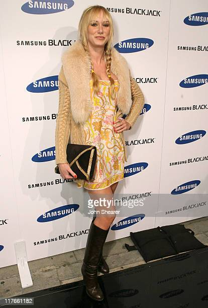 Kimberly Stewart during Jimmy Kimmel Hosts the Launch of The Samsung BlackJack Red Carpet at Boulevard3 in Hollywood California United States