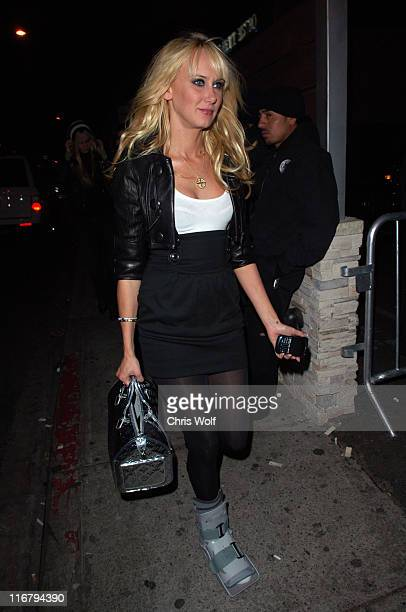 Kimberly Stewart during Kimberly Stewart Sighting at Area Club January 13 2007 at Area Club in Beverly Hills California United States