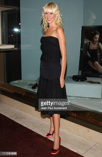 Kimberly Stewart during Louis Vuitton Cocktail Party to Benefit Project Angel Food at Louis Vuitton Store in Beverly Hills California United States