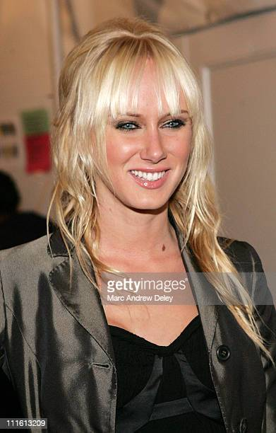 Kimberly Stewart during MercedesBenz Fashion Week Fall 2007 Heatherette Arrivals and Departures at The Tent Bryant Park in New York City New York...