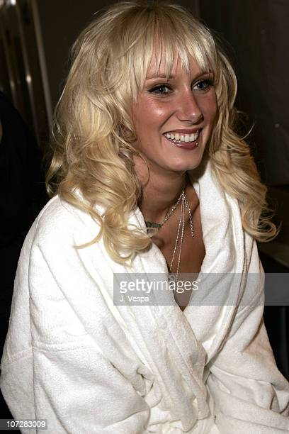 Kimberly Stewart during MercedesBenz Spring 2005 Fashion Week at Smashbox Studios Ashley Paige Front Row and Backstage at Smashbox Studios in Culver...