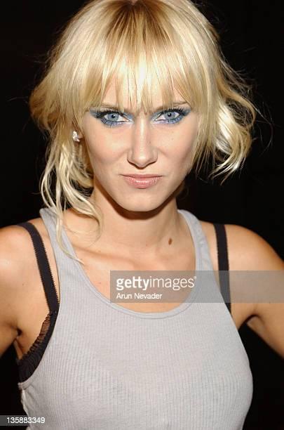 Kimberly Stewart during Smashbox LA Fashion Week Spring 2004 2 B Free Front Row at Smashbox Studios in Culver City California United States