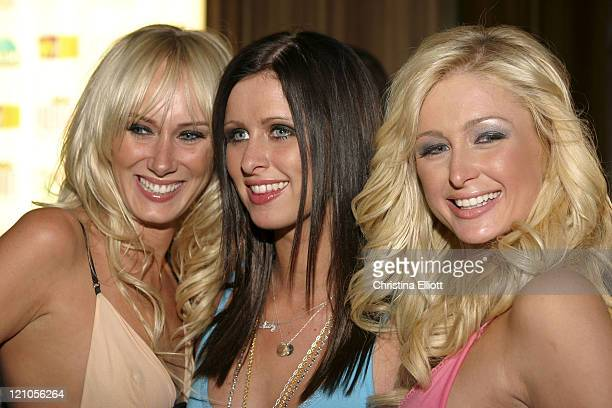 Kimberly Stewart Nicky Hilton and Paris Hilton during Nicky Hilton Launches her New Clothing Line Chick by Nicky Hilton in Las Vegas Nevada United...