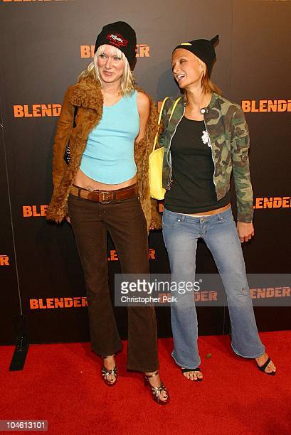 Kimberly Stewart Paris Hilton during Camp Freddy Performs Live At Blender Sessions at Ivar in Hollywood CA United States