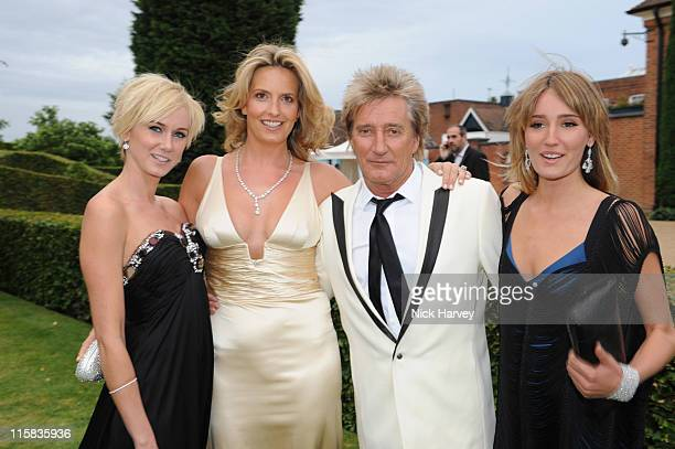 Kimberly Stewart, Penny Lancaster, Rod Stewart and Ruby Stewart arrive at the 10th Annual White Tie and Tiara Ball to benefit the Elton John Aids...