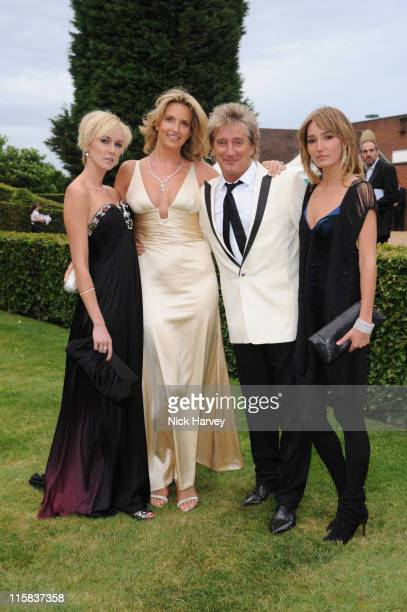Kimberly Stewart Penny Lancaster Rod Stewart and Ruby Stewart arrive at the 10th Annual White Tie and Tiara Ball to benefit the Elton John Aids...
