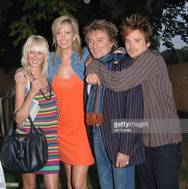 Kimberly Stewart Penny Lancaster Rod Stewart and Sean Stewart at the The Serpentine Gallery in London United Kingdom