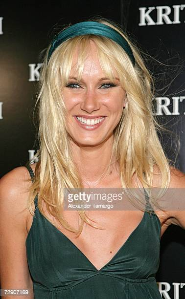 Kimberly Stewart poses at the KRITIK clothing launch at Casa Casaurina on December 30, 2006 in Miami Beach, Florida.