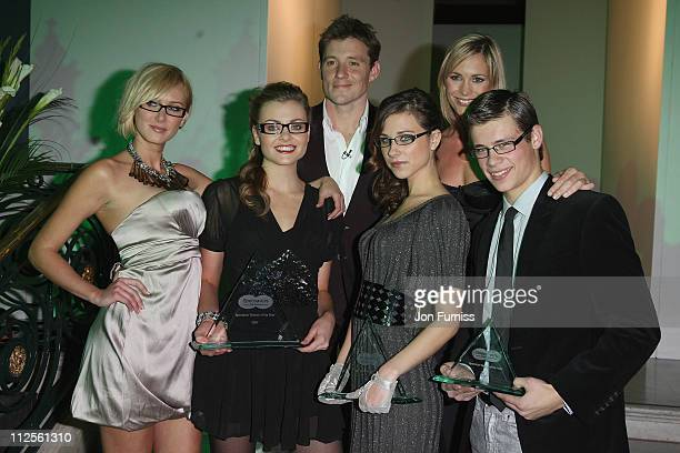 Kimberly Stewart Sara Pender Ben Shephard Ingrid Inderhaug Jenni Falconer and James Poole attend the Specsavers Spectacle Wearer Of The Year 2007...