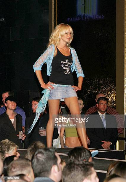 Kimberly Stewart wearing Chick by Nicky Hilton during Nicky Hilton Launches her New Clothing Line Chick by Nicky Hilton in Las Vegas Nevada United...