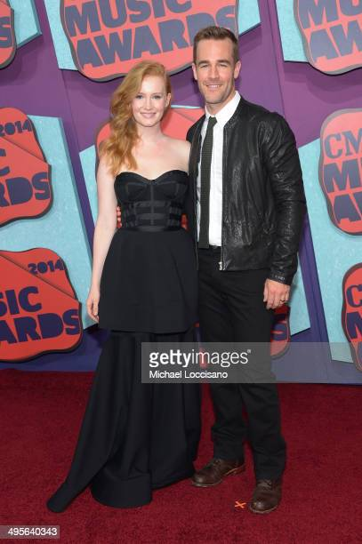 Kimberly Van Der Beek and James Van Der Beek attend the 2014 CMT Music awards at the Bridgestone Arena on June 4 2014 in Nashville Tennessee