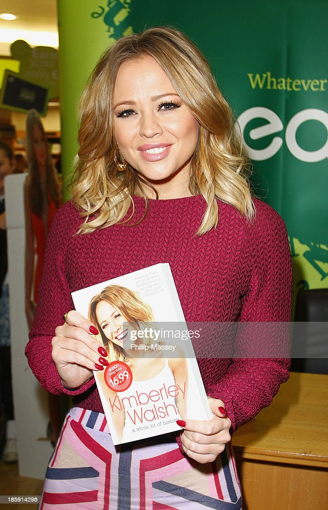 Kimberly Walsh meets fans and signs copies of her book 'A Whole Lot Of History' at Easons on October 26, 2013 in Dublin, Ireland.