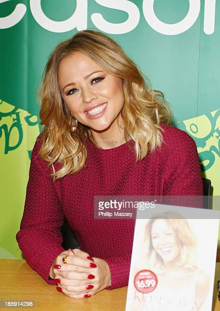 Kimberly Walsh meets fans and signs copies of her book 'A Whole Lot Of History' at Easons on October 26 2013 in Dublin Ireland