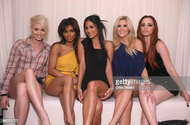 Kimberly Wiatt Melody Thornton Nicole Scherzinger Ashley Roberts and Jessica Sutta attend the Pussycat Dolls concert after party at PURE Nightclub on...