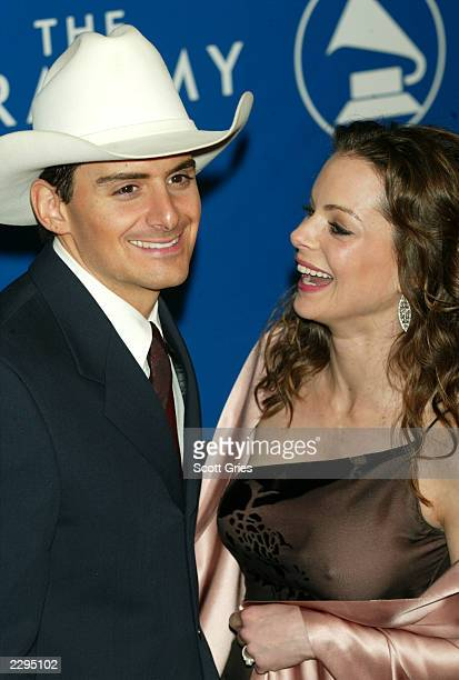 Kimberly Williams and Brad Paisley attend the 45th Annual Grammy Awards at Madison Square Garden on February 23 2003 in New York City