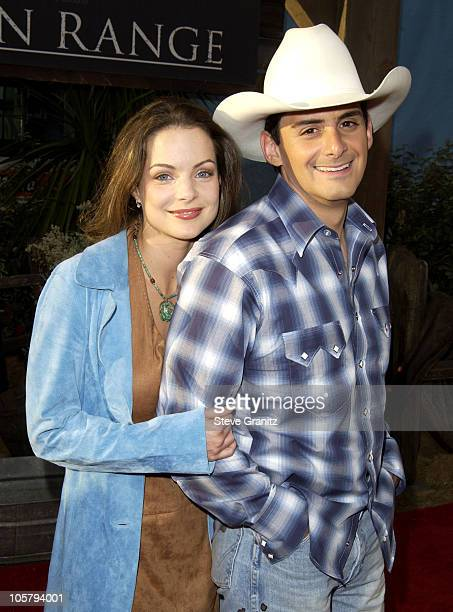 Kimberly Williams and Brad Paisley during Open Range Premiere at El Capitan in Hollywood California United States