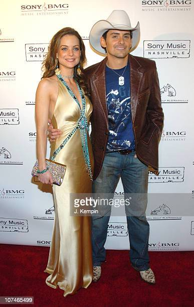 Kimberly Williams and Brad Paisley during The 39th Annual CMA Awards SONY BMG After Party Arrivals at Gotham Hall in New York City New York United...