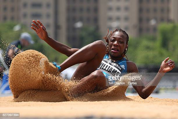 Kimberly Williams Jamaica winning the Women's Triple Jump competition during the Diamond League Adidas Grand Prix at Icahn Stadium Randall's Island...