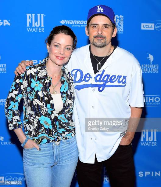 Kimberly WilliamsPaisley and Brad Paisley attend FIJI Water Official Water of Clayton Kershaw's 7th Annual Ping Pong 4 Purpose Fundraiser at Dodger...