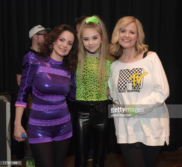 Kimberly WilliamsPaisley Tegan Marie and Bonnie Hunt seen backstage during Nashville's 80's dance party to end ALZ benefitting the Alzheimer's...