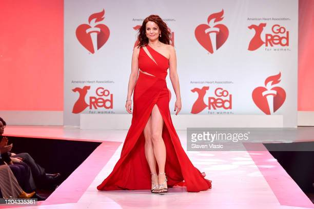 Kimberly WilliamsPaisley walks the runway at The American Heart Association's Go Red for Women Red Dress Collection 2020 at Hammerstein Ballroom on...
