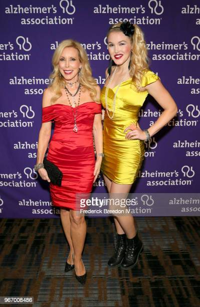 Kimberly Woolen and singer Ashley Campbell attend Nashville '80s Dance Party benefiting The Alzheimer's Association at Wildhorse Saloon on June 3...