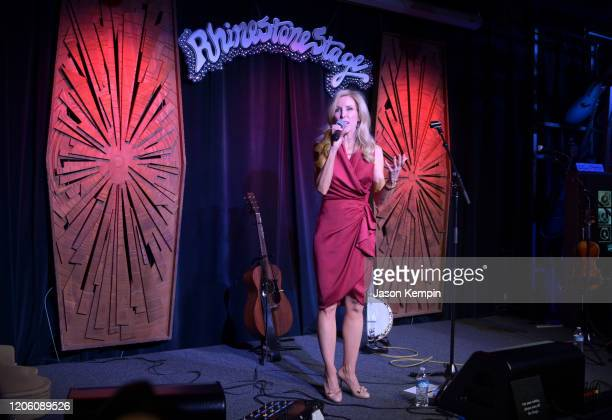 Kimberly Woolen speaks at the Glen Campbell Museum and Rhinestone Stage opening on February 13 2020 in Nashville Tennessee