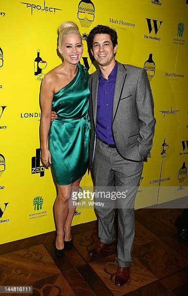 Kimberly Wyatt and Adam Garcia attend a party to support the Apldeap Foundation 'We Can Be Anything' Campaign at The Westbury Hotel on May 19 2012 in...