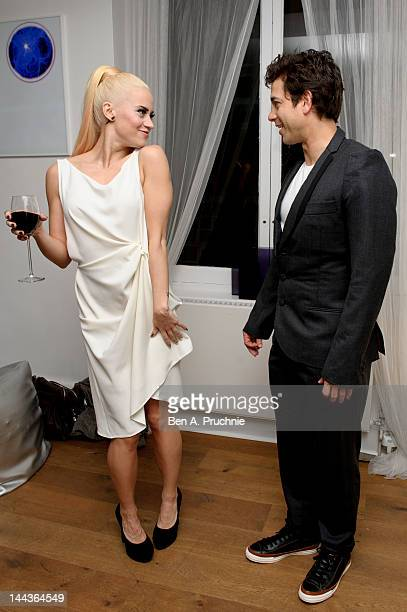 Kimberly Wyatt and Adam Garcia attends the Revolution Gala Night After Party at INC Space on May 13 2012 in London United Kingdom