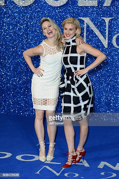 Kimberly Wyatt and Ashley Roberts attend a London Fan Screening of the Paramount Pictures film Zoolander No 2 at Empire Leicester Square on February...