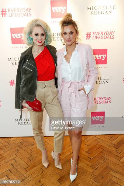 Kimberly Wyatt and Ashley Roberts attend Michelle Keegan's first catwalk show for Verycouk at One Marylebone on April 24 2018 in London England