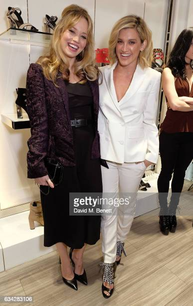 Kimberly Wyatt and Ashley Roberts attends the launch of Ashley Roberts' new footwear range 'ALLYN' at Larizia on February 8 2017 in London England