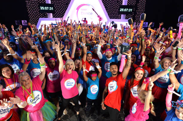 GBR: World Record Dance Marathon Relay Attempt For The Launch Of New Tesco Fundraiser