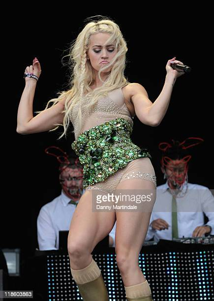 Kimberly Wyatt And Her Band Her Majesty The Wolves Performs On Day Two Of T In