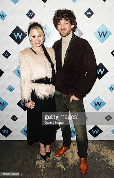 Kimberly Wyatt and Max Rogers attend a celebration of the new TV channel 'W' launching on Monday 15th February at Union Street Cafe on February 11...