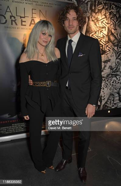 """Kimberly Wyatt and Max Rogers attend a private screening of """"Fallen Dream"""" at The Mandrake Hotel on December 12, 2019 in London, England."""