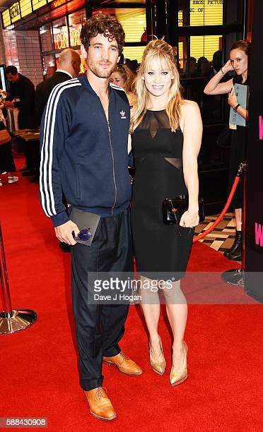 Kimberly Wyatt and Max Rogers attend a special screening of 'War Dogs' at Picturehouse Central on August 11 2016 in London England