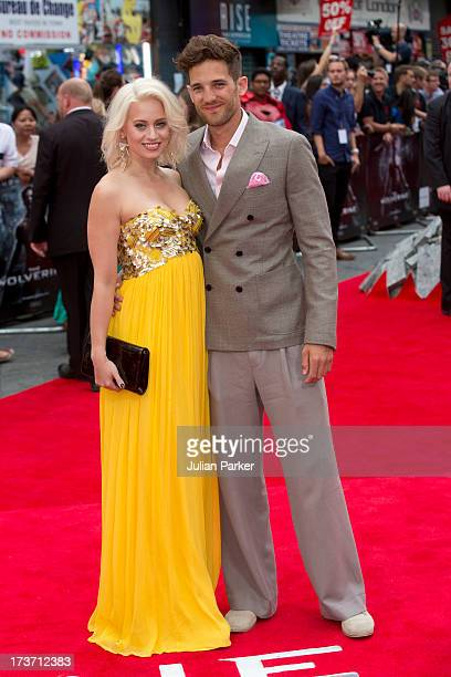 Kimberly Wyatt and Max Rogers attend the UK Premiere of 'The Wolverine' at Empire Leicester Square on July 16 2013 in London England