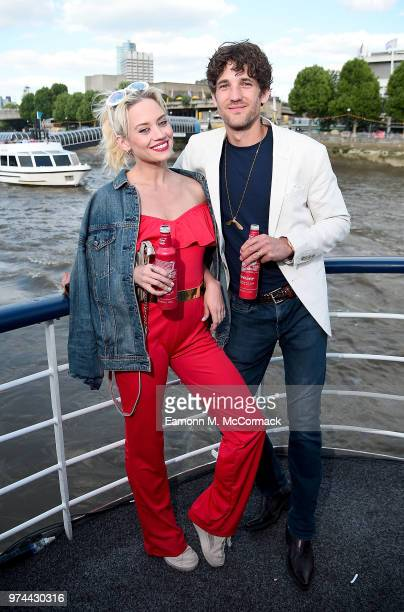 Kimberly Wyatt and Max Rogers on board the Bud Boat for the launch party hosted by Budweiser the Official Beer of the 2018 FIFA World Cup on June 14...